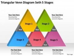 Triangular Venn Diagram Seth 5 Stages Ppt Business Plan Form PowerPoint Templates