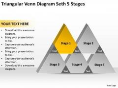 Triangular Venn Diagram Seth 5 Stages Ppt Retail Business Plan PowerPoint Templates