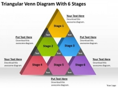 Triangular Venn Diagram Wth 6 Stages Business Plan Cover Page PowerPoint Slides