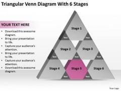 Triangular Venn Diagram Wth 6 Stages Ppt Business Plan Outline PowerPoint Slides