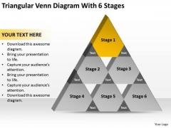 Triangular Venn Diagram Wth 6 Stages Ppt Business Plan PowerPoint Slides