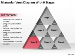 Triangular Venn Diagram Wth 6 Stages Ppt Help Writing Business Plan PowerPoint Slides