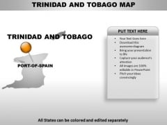 Trinidad And Tobago Country PowerPoint Maps