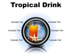 Trophical Drink Holidays PowerPoint Presentation Slides Cc