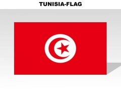Tunisia Country PowerPoint Flags