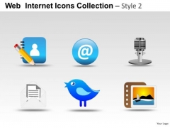 Twitter Icons PowerPoint Slides