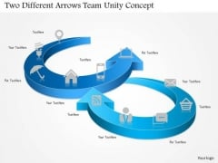 Two Different Arrows Team Unity Concept Presentation Template