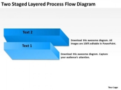Two Staged Layered Process Flow Diagram Ppt Business Plan Template PowerPoint Templates