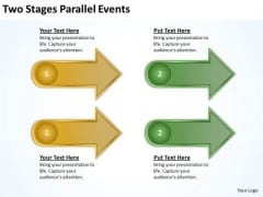 Two Stages Parallel Events Business Plan Ideas PowerPoint Slides