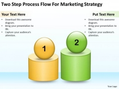 Two Step Process Flow For Marketing Strtegy Ppt Business Planning Software PowerPoint Templates