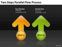Two Steps Parallel Flow Process Fitness Business Plan PowerPoint Slides