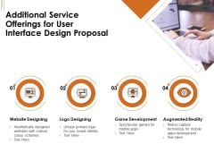 UI Software Design Additional Service Offerings For User Interface Design Proposal Ppt Pictures Example File PDF