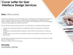 UI Software Design Cover Letter For User Interface Design Services Ppt Model Microsoft PDF