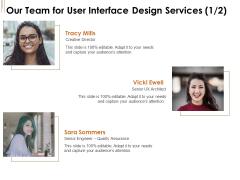 UI Software Design Our Team For User Interface Design Services Director Ppt Styles Slide Download PDF