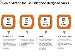 UI Software Design Plan Of Action For User Interface Design Services Ppt Ideas Slides PDF