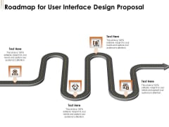 UI Software Design Roadmap For User Interface Design Proposal Ppt Gallery Example Introduction PDF