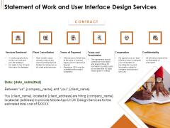 UI Software Design Statement Of Work And User Interface Design Services Ppt Inspiration Designs PDF