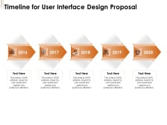 UI Software Design Timeline For User Interface Design Proposal Ppt Infographic Template Icons PDF