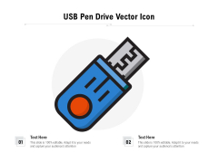 USB Pen Drive Vector Icon Ppt PowerPoint Presentation Slides Example PDF