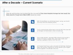 US Economic Crisis After A Decade Current Scenario Ppt Portfolio Graphics Example PDF