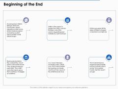 US Economic Crisis Beginning Of The End Ppt Summary Slide PDF