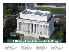 US History Lincoln Memorial Building Ppt PowerPoint Presentation Gallery Example