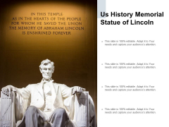 US History Memorial Statue Of Lincoln Ppt PowerPoint Presentation Gallery Graphics