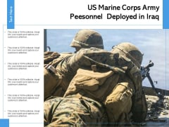 US Marine Corps Army Peesonnel Deployed In Lraq Ppt PowerPoint Presentation Slides Inspiration PDF