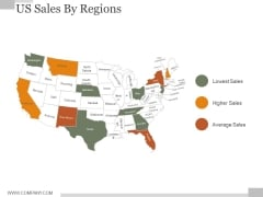 US Sales By Regions Ppt PowerPoint Presentation Samples