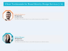 Ultimate Brand Creation Corporate Identity Client Testimonials For Brand Identity Design Services Management Information PDF