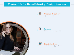 Ultimate Brand Creation Corporate Identity Contact Us For Brand Identity Design Services Structure PDF
