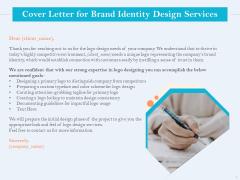 Ultimate Brand Creation Corporate Identity Cover Letter For Brand Identity Design Services Ppt Portfolio Aids PDF