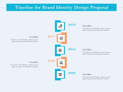 Ultimate Brand Creation Corporate Identity Timeline For Brand Identity Design Proposal Ppt Inspiration Infographics PDF