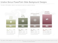 Unalive Bonus Powerpoint Slide Background Designs