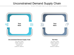 Unconstrained Demand Supply Chain Ppt PowerPoint Presentation Show Design Ideas Cpb Pdf