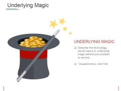 Underlying Magic Ppt PowerPoint Presentation Icon Example Topics