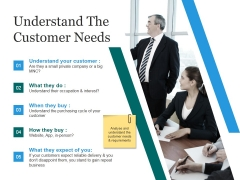 Understand The Customer Needs Template 1 Ppt PowerPoint Presentation Slides Grid