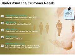 Understand The Customer Needs Template 1 Ppt PowerPoint Presentation Summary Graphics Design