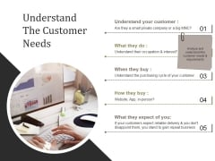Understand The Customer Needs Template 1 Ppt PowerPoint Presentation Themes