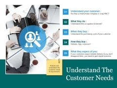 Understand The Customer Needs Template 2 Ppt PowerPoint Presentation Diagram Lists