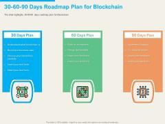 understanding blockchain basics use cases 30 60 90 days roadmap plan for blockchain background pdf