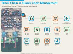 understanding blockchain basics use cases block chain in supply chain management clipart pdf