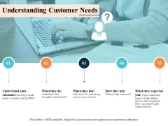 Understanding Customer Needs Ppt PowerPoint Presentation Infographic Template Diagrams