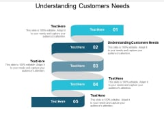 Understanding Customers Needs Ppt PowerPoint Presentation Visual Aids Infographics Cpb