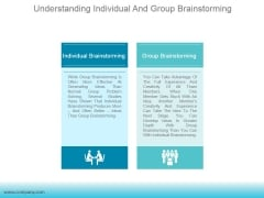 Understanding Individual And Group Brainstorming Ppt PowerPoint Presentation Template