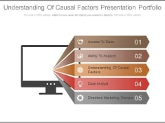 Understanding Of Causal Factors Presentation Portfolio Ppt Slides
