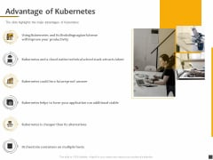 Understanding The Kubernetes Components Through Diagram Advantage Of Kubernetes Ppt Layouts Example PDF