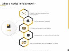Understanding The Kubernetes Components Through Diagram What Is Nodes In Kubernetes Ppt Layouts Inspiration PDF