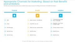 Unified Business Consumer Marketing Strategy Appropriate Channels Marketing Based Their Benefits Limitations Template PDF