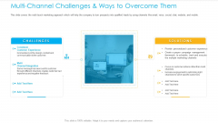 Unified Business Consumer Marketing Strategy Multi Channel Challenges Ways Overcome Them Professional PDF